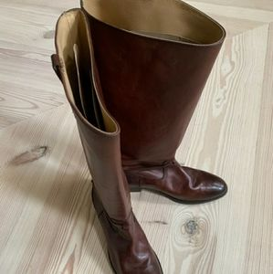 FRYE TALL LEATHER BOOTS